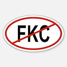 FKC Oval Decal