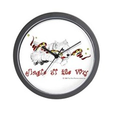 Westhighland Terrier Holiday Wall Clock