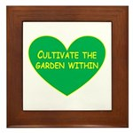 Cultivate the garden within Framed Tile