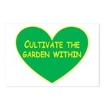 Cultivate the garden within Postcards (Package of