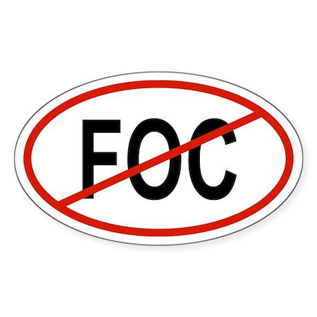 FOC Oval Sticker