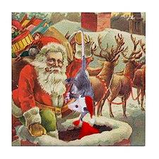 Santa's Helper Possum Tile Coaster