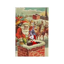 Santa's Helper Possum Rectangle Magnet