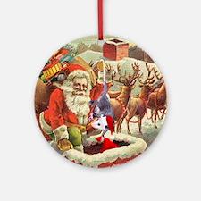 Santa's Helper Possum Ornament (Round)