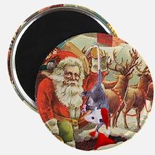 Santa's Helper Possum Magnet