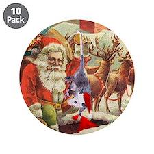 "Santa's Helper Possum 3.5"" Button (10 pack)"