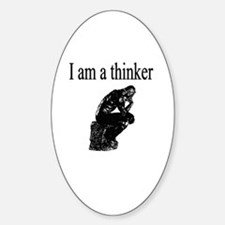 I am a thinker Oval Decal