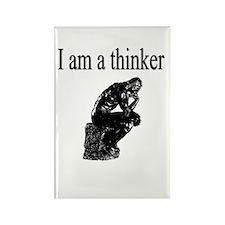 I am a thinker Rectangle Magnet