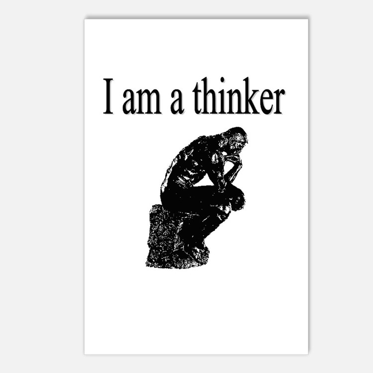 I am a thinker Postcards (Package of 8)