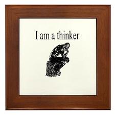 I am a thinker Framed Tile