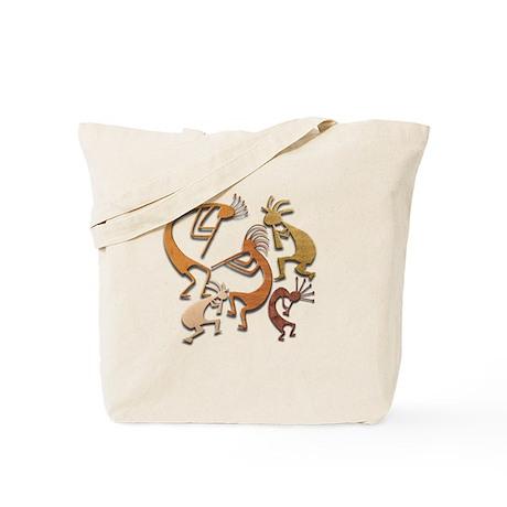 Five Wood Kokopelli Tote Bag