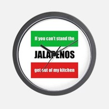 Cooking with Jalapenos Wall Clock