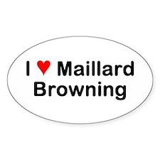 Maillard Reaction Oval Decal