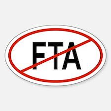 FTA Oval Decal