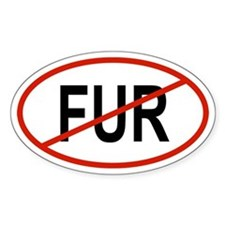 FUR Oval Decal
