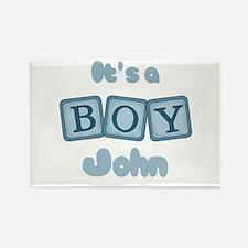 It's A Boy - John Rectangle Magnet