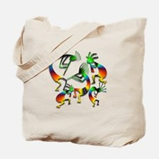 Five Kokopelli Jam Session Tote Bag
