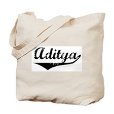 Aditya Vintage (Black) Tote Bag
