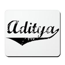 Aditya Vintage (Black) Mousepad