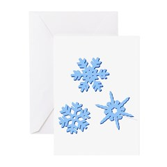 3-D Snowflakes Greeting Cards (Pk of 20)