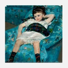 Little Girl in a Blue Armchair by Mary Cassatt Til