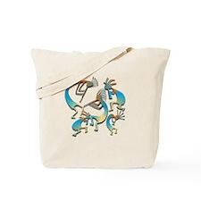 Five Cool Blue Kokopelli Tote Bag