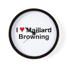 Maillard Reaction Wall Clock