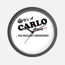 CARLO thing, you wouldn't understand Wall Clock