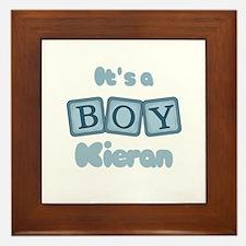 It's A Boy - Kieran Framed Tile