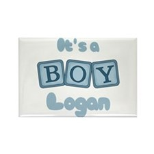It's A Boy - Logan Rectangle Magnet
