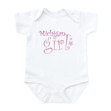 Cute Born in michigan Infant Bodysuit