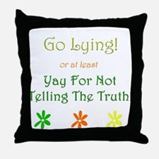Funny Ned Throw Pillow
