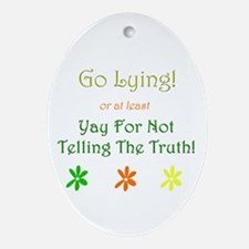 Funny Ned Oval Ornament