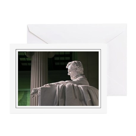 Lincoln Memorial Profile Greeting Cards (Pk of 10)