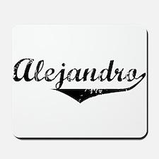 Alejandro Vintage (Black) Mousepad