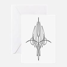 Pinstripe Bird Greeting Card