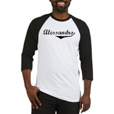 Alessandro Vintage (Black) Baseball Jersey