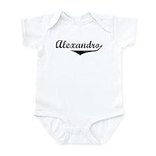 Alexandro Vintage (Black) Infant Bodysuit