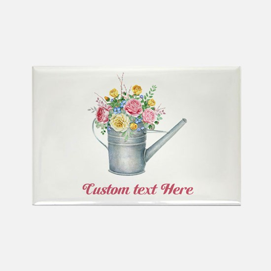 Floral Bouquet Watering Can Magnets