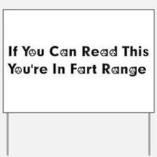 Fart Range Yard Sign