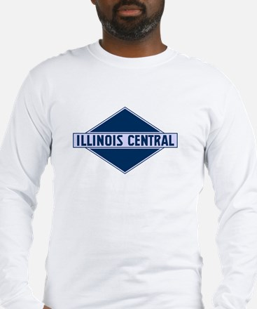 Historic diamond logo illinois Long Sleeve T-Shirt