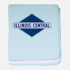 Historic diamond logo illinois centra baby blanket