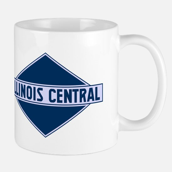 Historic diamond logo illinois central train Mugs