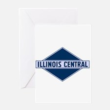 Historic diamond logo illinois cent Greeting Cards