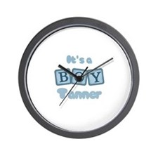 It's A Boy - Tanner Wall Clock