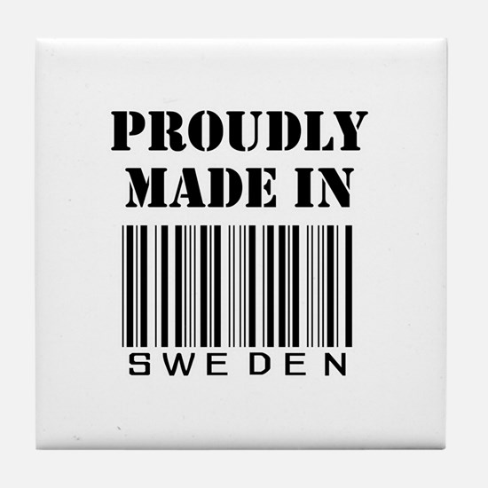 Cute Swedish map Tile Coaster