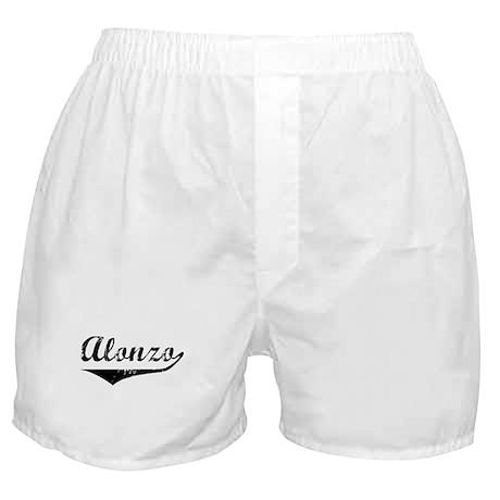Alonzo Vintage (Black) Boxer Shorts