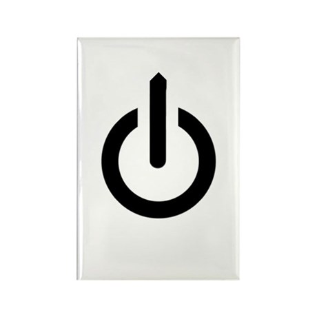 Power Button Rectangle Magnet (10 pack)