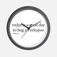 Hug a Peekapoo Wall Clock
