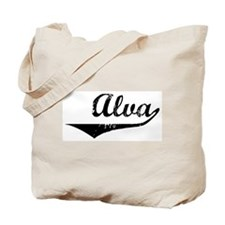 Alva Vintage (Black) Tote Bag